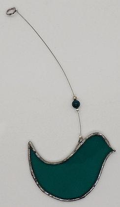 Aqua Hanging Bird