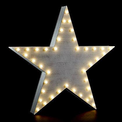 White Light Up Star