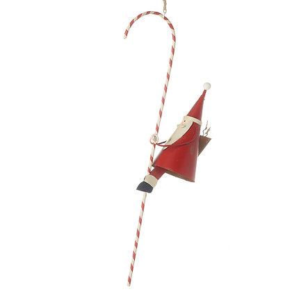 Hanging Santa On Candy Cane