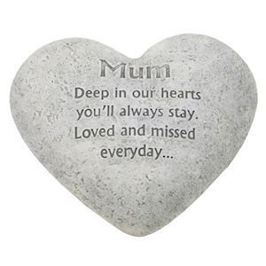 Heart Graveside Memorial Ornaments for Mum