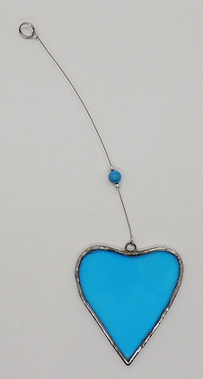 Turquoise Hanging Heart