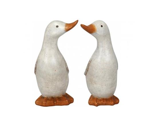 Small Shabby Chic White Ducks
