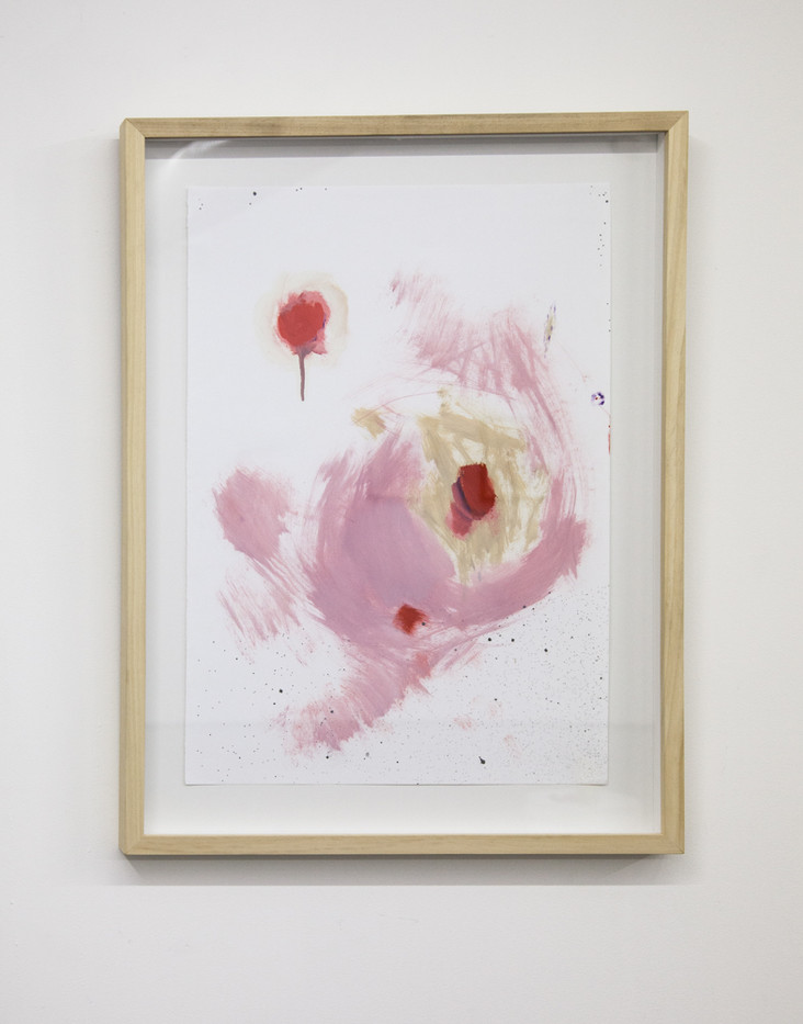 Themba Shibase | Pink Fluid | 2017 | Oil on Cotton Rag | 68.5 x 49.5 cm