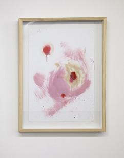 Themba Shibase | Pink Fluid | 2017 | Oil on Cotton Rag | 68.5 x 49.5 cm