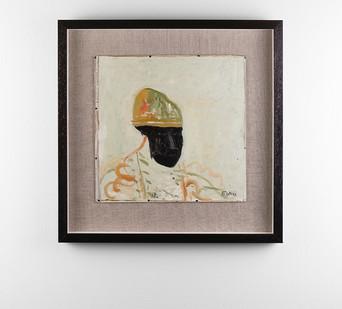 Simon Stone | The Sentry | 2017 | Oil on Cardboard | 35 x 35 cm