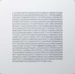 Willem Boshoff | PI | 2009 | Engraved Aluminium | 120 x 120 cm