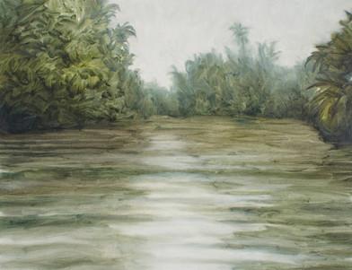Jake Aikman   N10.857141, W85.77031   2013   Oil on Paper   31 x 40 cm