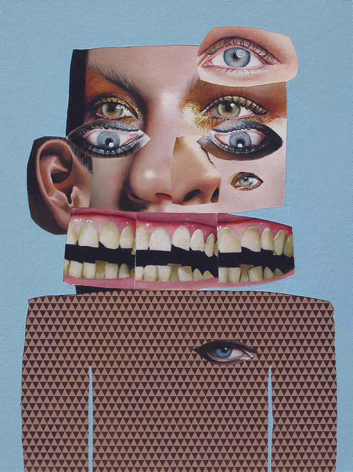 Asha Zero   _ _ X   2012   Acrylic on Board   40 x 30 cm