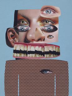 Asha Zero | _ _ X | 2012 | Acrylic on Board | 40 x 30 cm