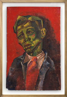 Albert Adams | Portrait | 1950 | Oil on Paper | 56.5 x 38.5 cm