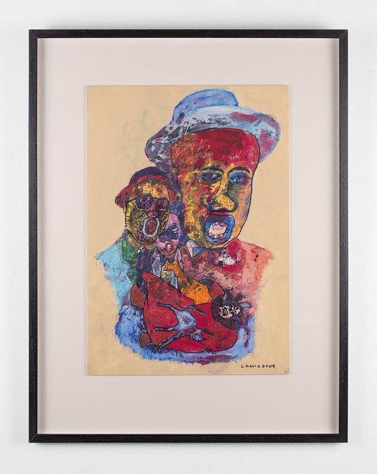 Lionel Davis | Harmony | 2009 | Mixed Media on Paper | 45.5 x 31.5 cm