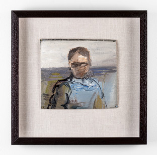 Simon Stone | Man with Blue Shirt | 2017 | Oil on Cardboard | 20 x 22 cm