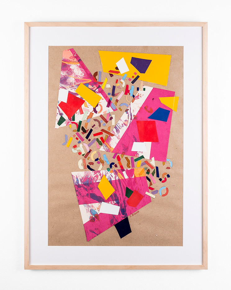 Lionel Davis | Scattered Patches IV | c. 2000 | Collage and Mixed Media on Paper | 59.5 x 40 cm