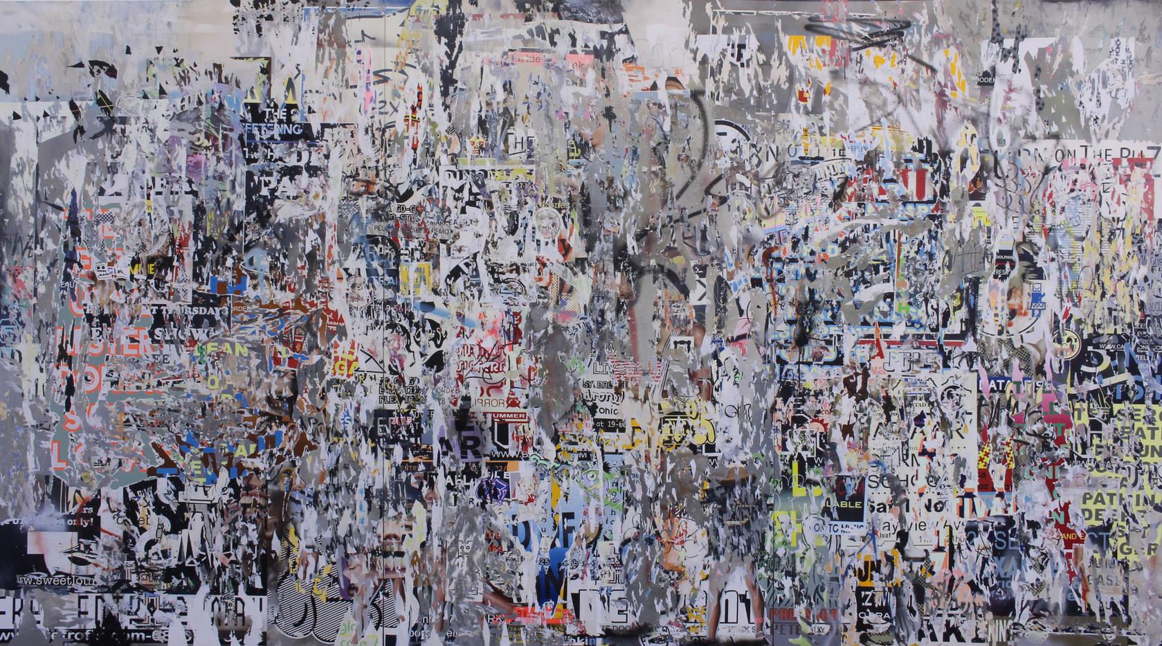 Asha Zero | Untitled | 2015 | Acrylic on Board | 200 x 366 cm
