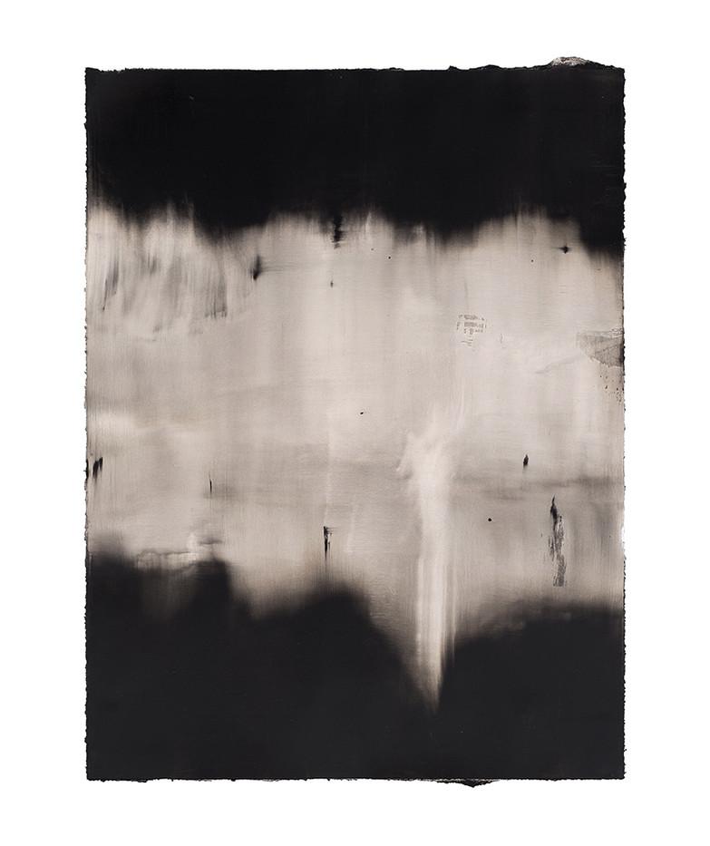 Alexandra Karakashian | Achromatic V | 2017 | Oil on Sized Paper | 93 x 71 cm