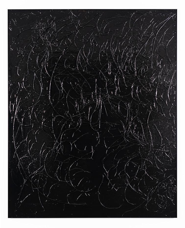 Peter Eastman   Enon Riverbed II   2019   Enamel, Ironwood and Candlewood on Aluminium   185 x 150 x 13.5 cm