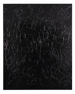 Peter Eastman | Enon Riverbed II | 2019 | Enamel, Ironwood and Candlewood on Aluminium | 185 x 150 x 13.5 cm