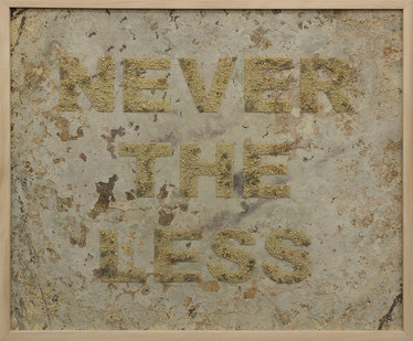 Willem Boshoff | Never the Less | 2015 | Sand on Metal | 109.5 x 129.5 cm