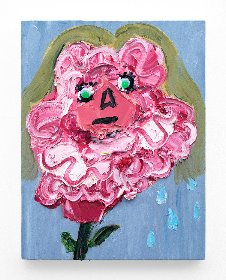 Georgina Gratrix | Self Portrait as a Fickle Flower | 2018 | Oil on Canvas | 65 x 50 cm