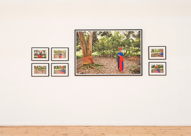 Lhola Amira | Looking for Ghana & The Red Suitcase | 2017 | Installation View