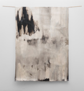 Alexandra Karakashian | Beneath I | 2017 | Oil on Sized Paper | 200 x 140 cm