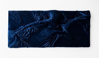 Akudzwe Elsie Chiwa | Prey | 2020 | Hand-Stitched Velvet on Canvas Frame | 82 x 180 x 15 cm