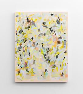 "Christiaan van Eeden | Swipe | 2016 | Plascon ""Colonial Dream"", Oil, Glue, Canvas | 120 x 90 cm"