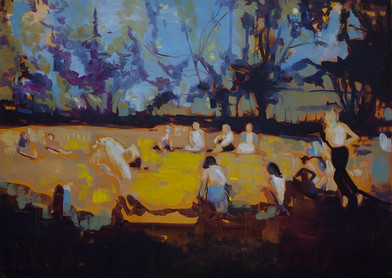 Kate Gottgens   Field of the Cloth of Gold   2015   Oil on Canvas   115 x 160 cm