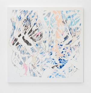 Marlene Steyn | The Self-Fish Pedicures | 2016 | Oil on Canvas | 150 x 150 cm