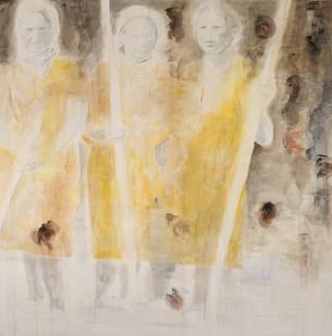 Uwe Wittwer | Drei Schwestern | 2012 | Watercolour on Paper | 127 x 112 cm