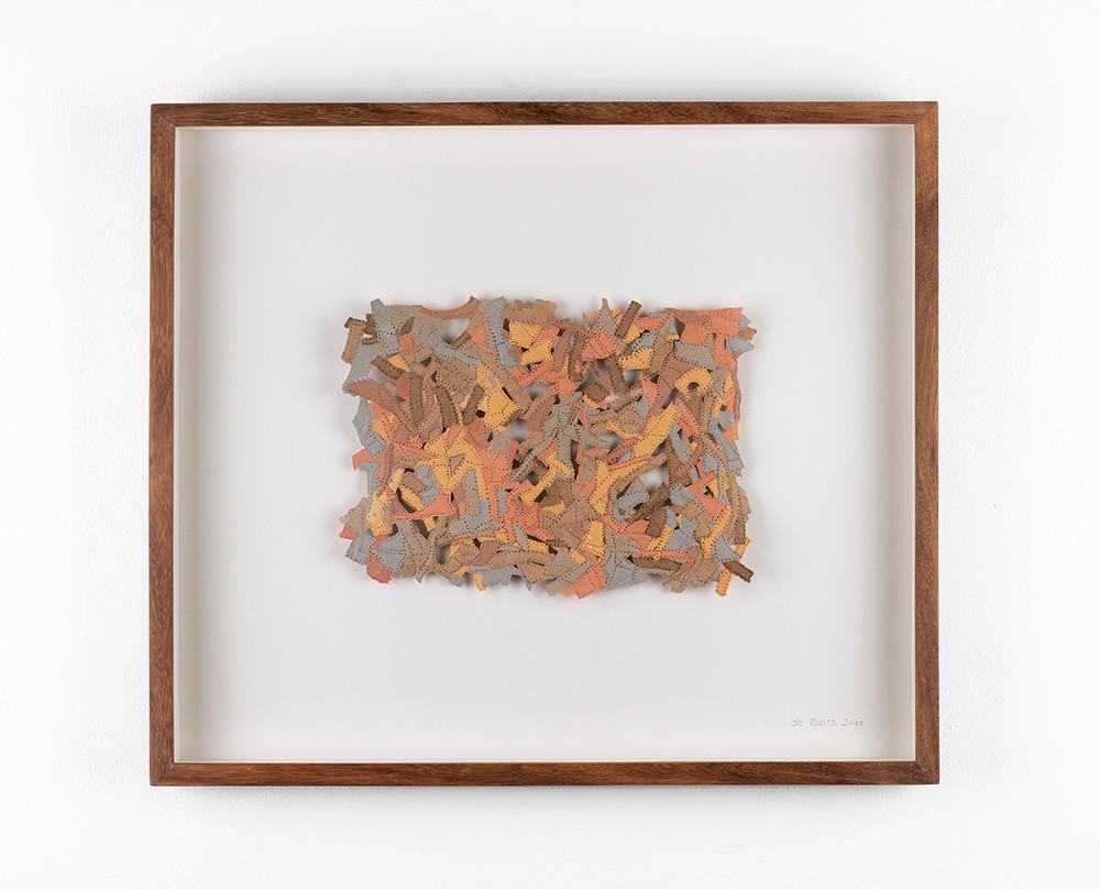 Jo Roets   Acolchoada   2020   Air-Drying Clay   35.5 x 41 x 3.5 cm