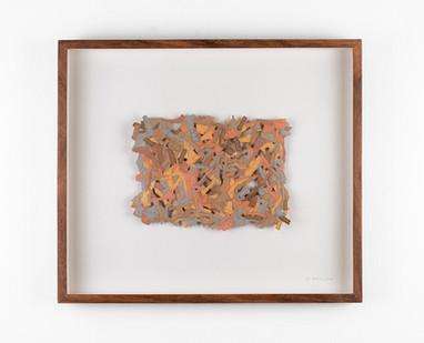 Jo Roets | Acolchoada | 2020 | Air-Drying Clay | 35.5 x 41 x 3.5 cm