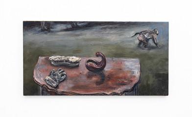Johann Louw | Barok - stillewe, met aap | 2020 | Oil on Canvas | 61 x 120 cm
