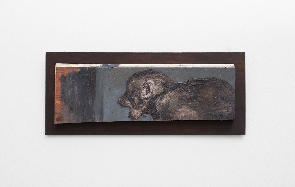 Johann Louw | Klein Bobbejaan | 2017 | Oil on Panel | 13.5 x 42 cm