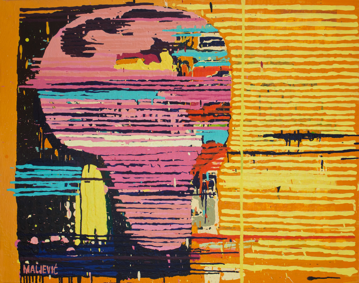 Maja Maljevic | With Pink Head | 2013 | Oil on Canvas | 80 x 100 cm