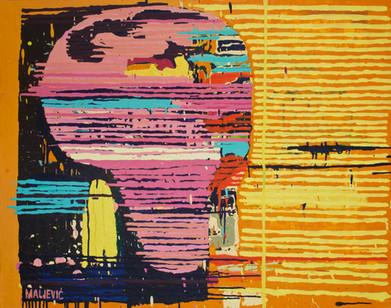 Maja Maljevic   With Pink Head   2013   Oil on Canvas   80 x 100 cm