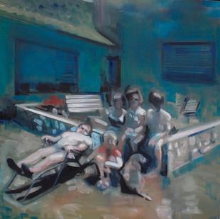 Kate Gottgens | Family fragments | 2013 | Oil on Canvas | 105 x 105 cm