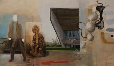 Simon Stone   Loss of Thought   2014   Oil on Canvas   106 x 183.5 cm