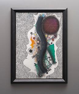 Christo Coetzee | Baroque Disc and Line that Love | 1964 | Acrylic on Canvas | 91 x 64.5 cm