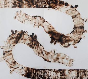 Sandile Zulu | Artoms Archetype Forms Case 8 | 2012 | Fire, Water, Air and Earth on Canvas | 160 x 145 cm