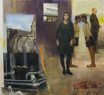 Simon Stone   Three Weeks   2016   Oil on Linen   188 x 173 cm