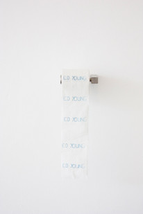 Ed Young   Bogroll   2013   Printed Toilet Paper   Dimensions Variable