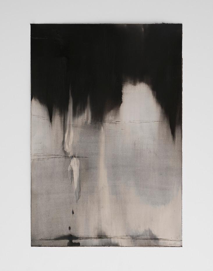 Alexandra Karakashian | Achromatic II | 2017 | Oil on Sized Paper | 94 x 66 cm