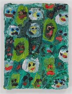 Georgina Gratrix | Les Fleurz | 2015 | Oil on Board | 41 x 30.5 cm