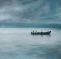 Jake Aikman | Crossing | 2012 | Oil on Canvas | 145 x 145 cm