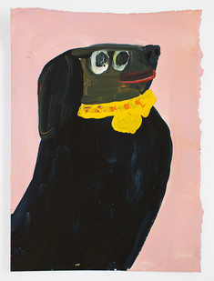 Georgina Gratrix | Eager Beaver (Daisy) | 2015 | Oil on Paper | 38 x 26 cm
