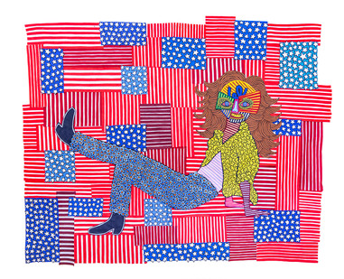 Jody Paulsen | American Woman | 2020 | Felt Collage | 190 x 240 cm