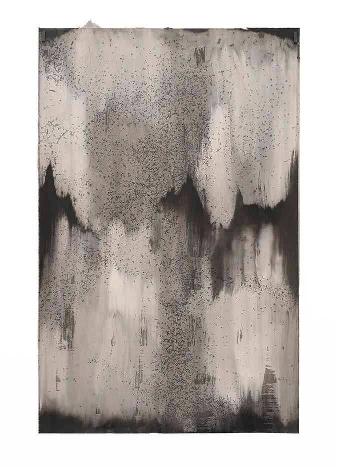 Alexandra Karakashian | Achromatic IV | 2017 | Oil and Salt on Sized Paper | 97 x 62 cm
