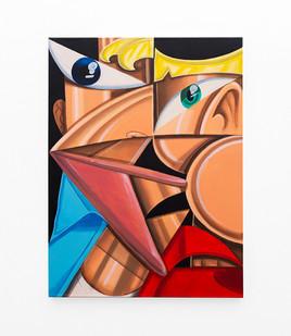 Callan Grecia | TWIN (2) | 2021 | Acrylic on Canvas | 102 x 76 cm