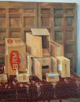 Simon Stone | Ten Box Trap | 2012 | Oil on Canvas | 116.5 x 93 cm